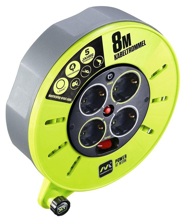 Base-Star.net » Linkverzeichnis » Masterplug Pro-XT KASSETTE S Kabeltrommel Kabelbox 8m mit 4 Steckdosen, Schalter und Thermoschutz