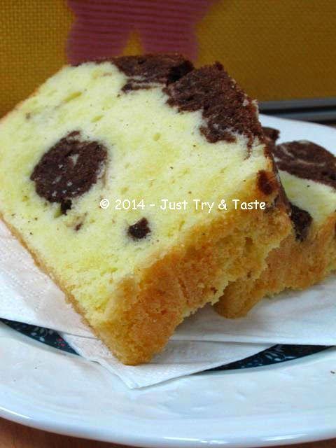 Just Try & Taste: Marble Pound Cake - Betapa susahnya menciptakan motif marmer!