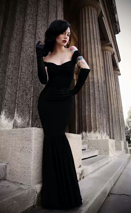 Look stunning in the most fitted black velvet dress - wowzer x