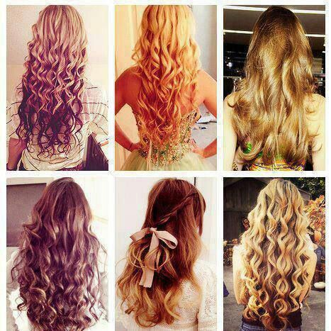 different hairstyles for box braids : love all these kinda of long curly hair :) I want blonde with brown ...