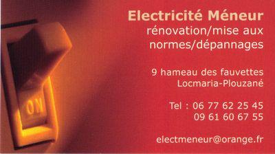 Entreprise electricité Meneur 29280 Locmaria- Plouzané