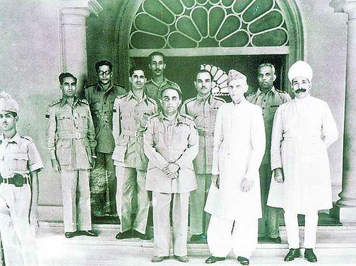 Mohammed Ali Jinnah with Azam Jah Bahadur, Prince of Berar