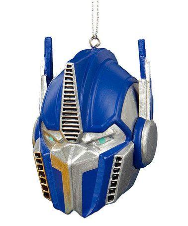 Look what I found on #zulily! Transformer Optimus Prime Helmet Ornament #zulilyfinds
