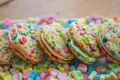 Lucky Charms Rainbow Sandwich Cookies.