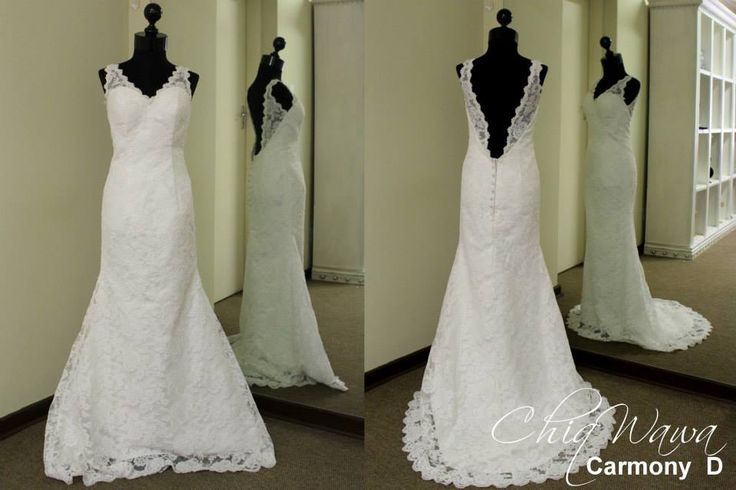 Beautiful low-back full lace wedding dress #ChiqWawa info@Chiqwawa.co.za South Africa, Pretoria