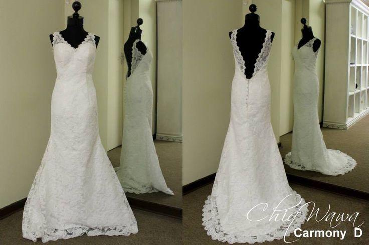 Beautiful low-back full lace wedding dress #ChiqWawa info@Chiqwawa.co.za South Africa, Pretoria