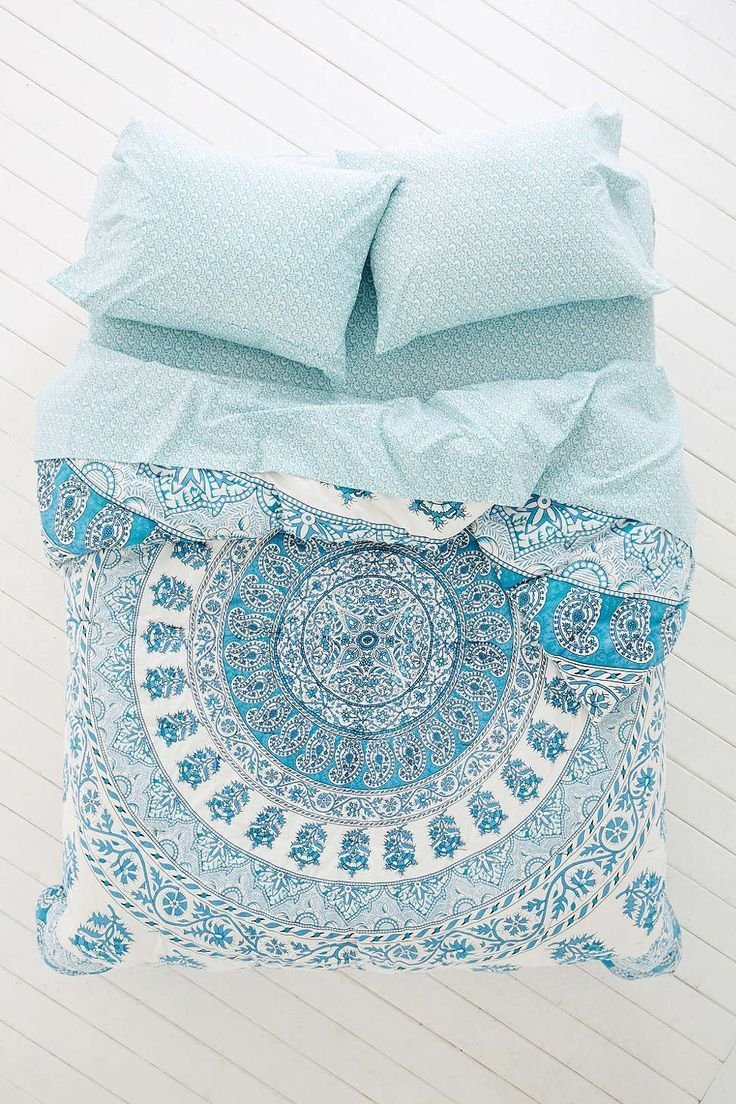 Bedding sets turquoise - Plum Bow Kerala Medallion Comforter Snooze Set