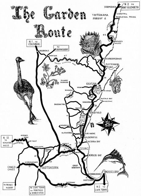 Garden Route Road Map by HiltonT, via Flickr