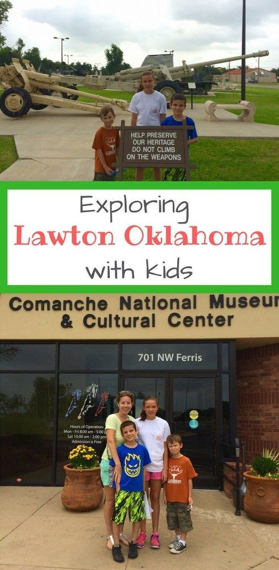 Lawton, Oklahoma offers several sights perfect for family travelers. Learn about the Comanche people and the Last Comanche Chief Quanah Parker along with military history.
