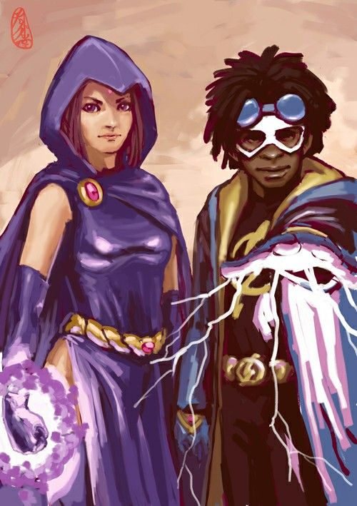 Raven & Static Shock --- Oddest picture pairing I've ever seen, but I kinda love it!