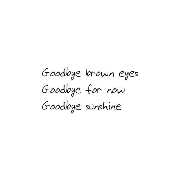 Avril Lavigne Goodbye Lyrics ❤ liked on Polyvore