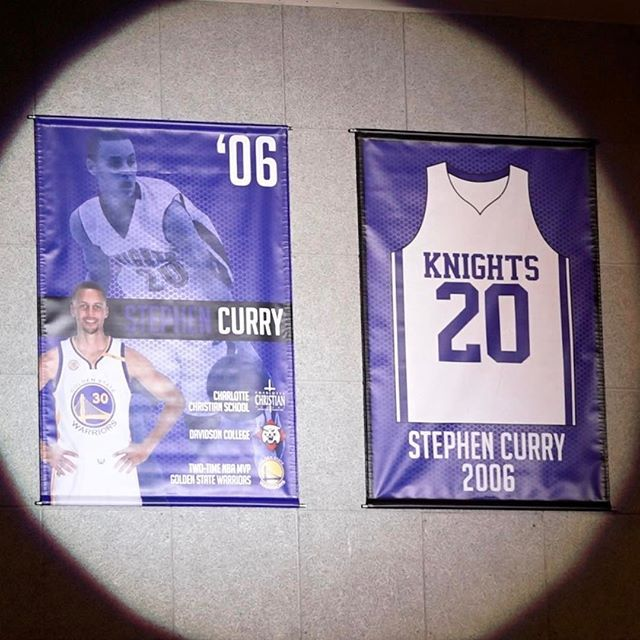 Stephen Curry @stephencurry30: Thank to my Charlotte Christian family retiring