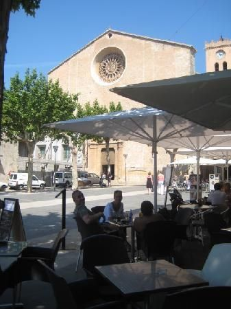 The Old Town Square - Pollensa Mallorca. Typically Spanish, just sit with a coffee or a beer and watch the world go by!