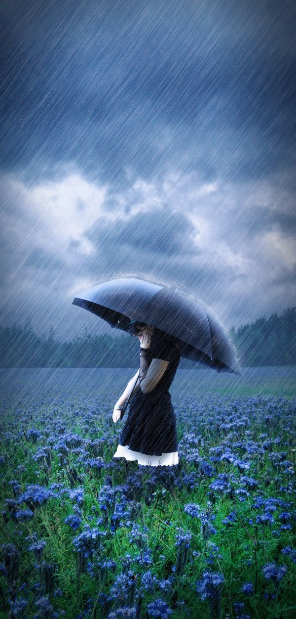 by Matteo PontonuttiUmbrellas, Food For Thoughts, Rainy Day, Blue, Italian Phrases, Beautiful, Art, I Love Rain, Storms