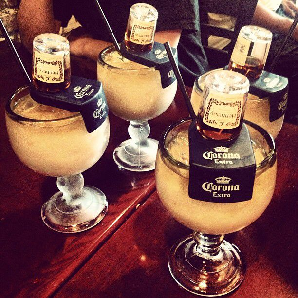 Hennchata! Simply mix 1.5 oz Hennessy V.S. (50ml bottle) with 4 oz Horchata; use the L shaped holder for the Hennessy (recommended) or just pour the mix into a glass with ice and enjoy!
