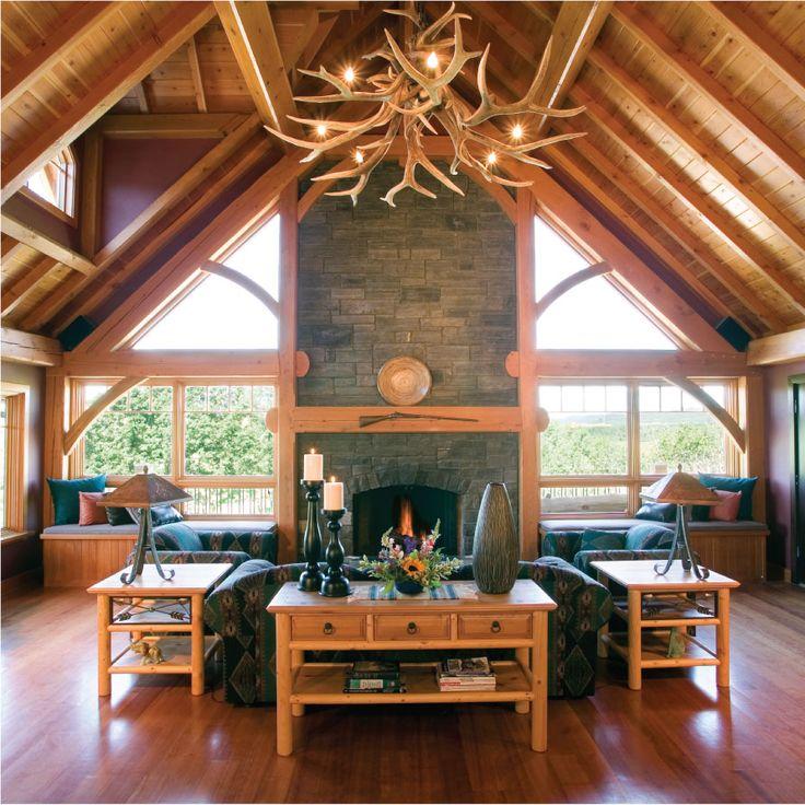 Luxury Log Home Interiors: Beautiful Log Cabin