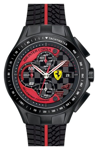 Main Image - Scuderia Ferrari 'Race Day' Chronograph Silicone Strap Watch, 44mm