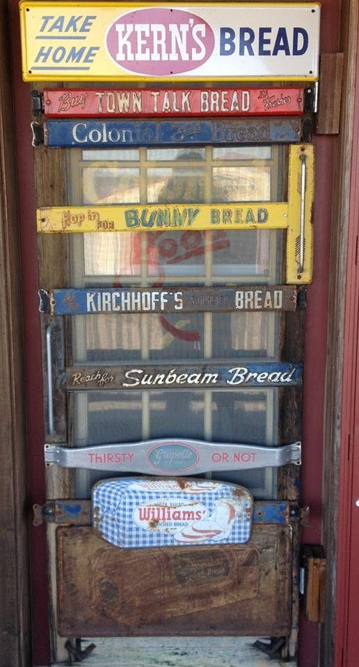 Now I know how my Awrey's wrapped bread would have been displayed. Find  this Pin and more on screen door push bars ... - 39 Best Screen Door Push Bars Images On Pinterest Screen Doors