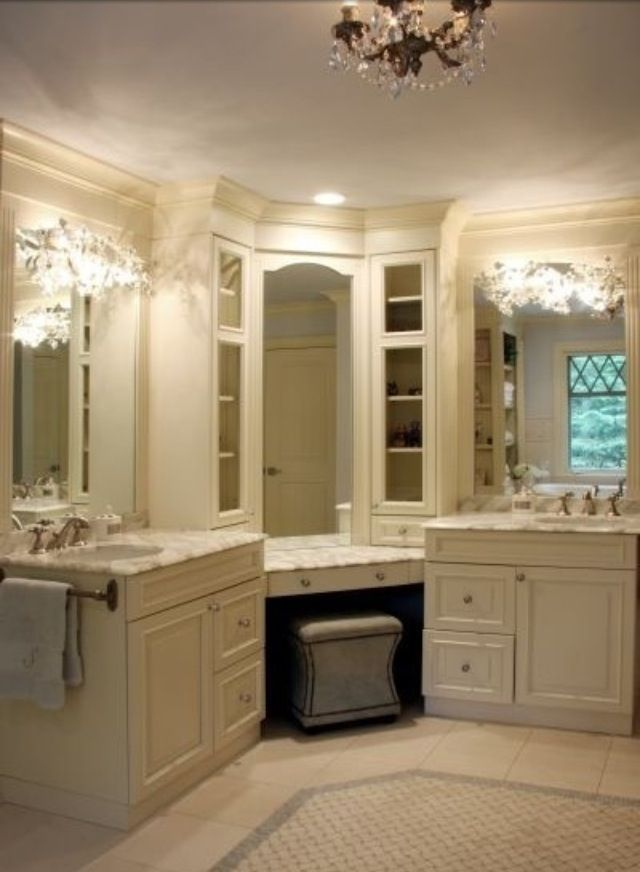 L Shaped Double Sink Bathroom Vanity Google Search With Images