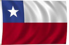 La bandera de Chile.