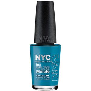 New York Color in a New York Color Minute Quick Dry Nail Polish, Wall Street Blue