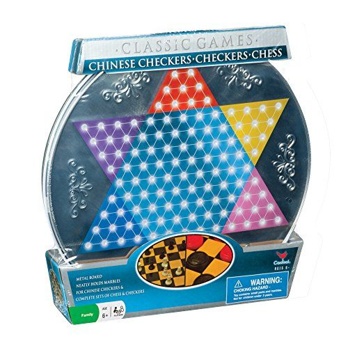 Metal Board Chinese Checkers, Checkers and Chess Cardinal ...