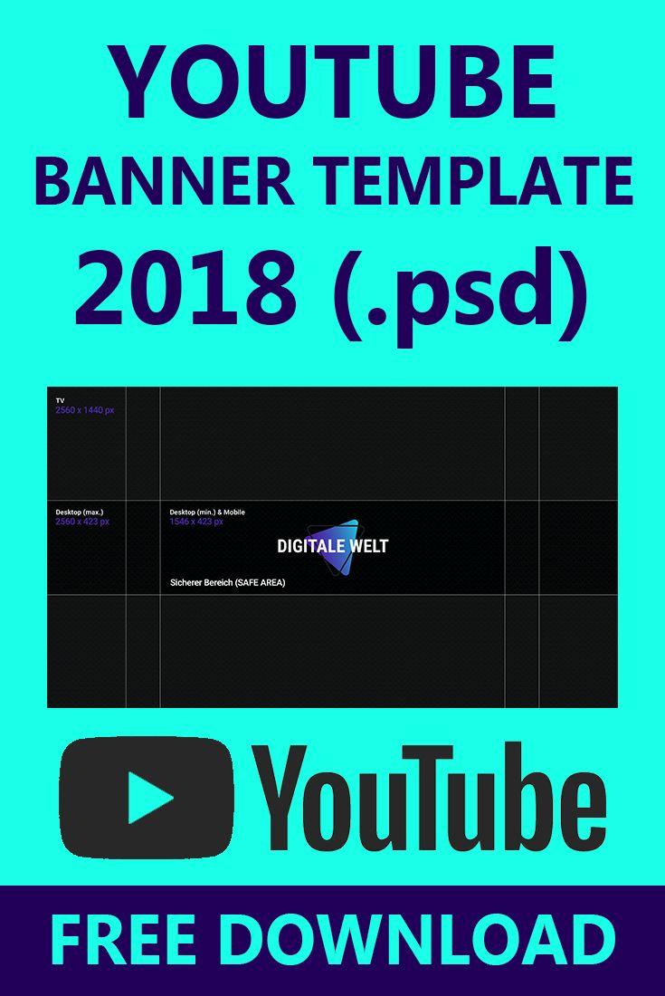 Youtube Kanalbild Template 2018 Digitalewelt Youtube Banner