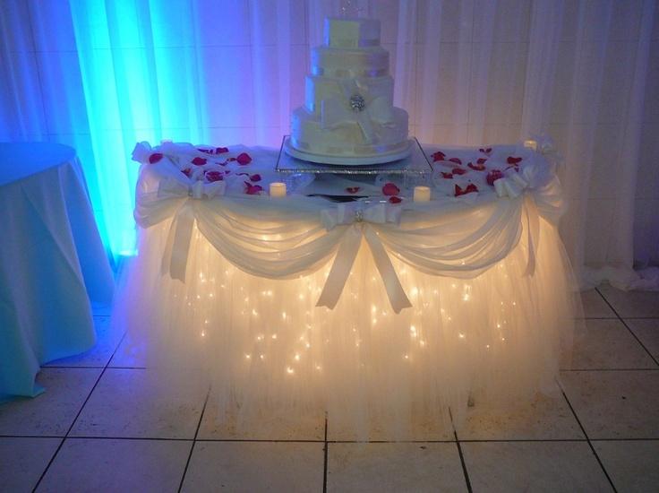 Lighted Table Skirt Elegant For Weddings Entertaining