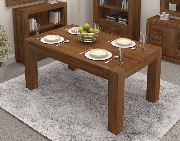 the mayan walnut large dining table seats 6 to 8 has been constructed using solid walnut a very high quality timber with a dense grain that makes it the - Cheap Dining Tables