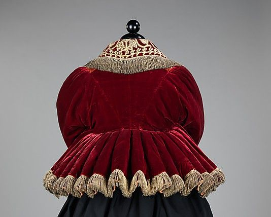 20-11-11 Jacket Date: 1840–80 Culture: Russian Medium: silk, metal, cotton Dimensions: ...
