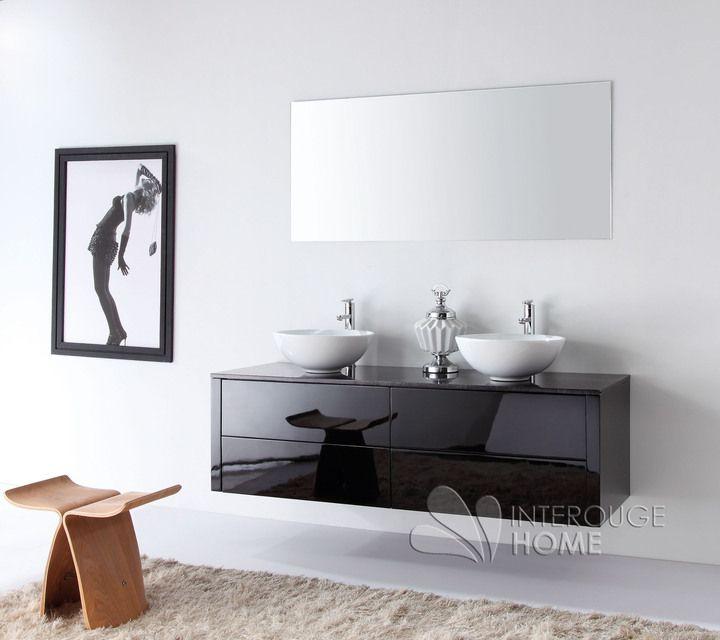 1000 id es sur le th me salles de bains en marbre sur for Meuble salle de bain bois et noir