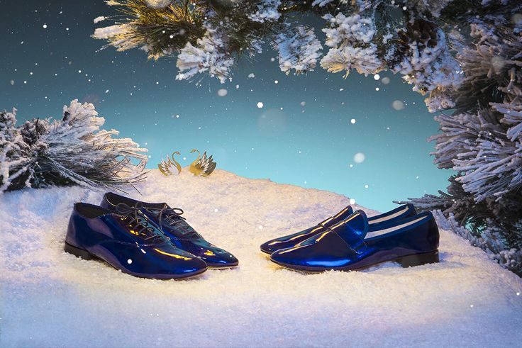 An unique Holiday Season with #Repetto Men shoes in electro blue www.repetto.com