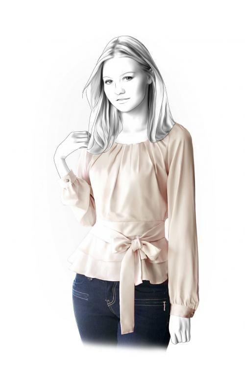 blusa con cinto-beige | Clothing Designs-Patterns | Pinterest ...