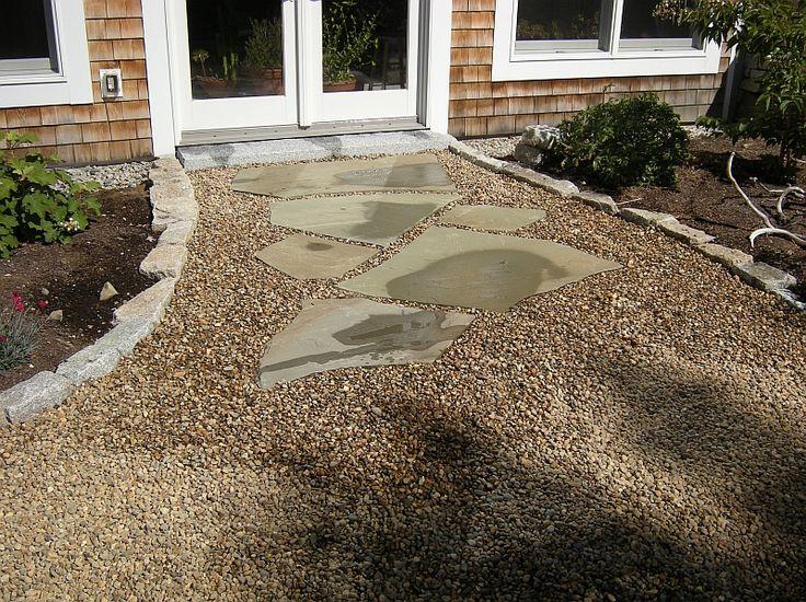 Flagstone Patio With Pea Gravel
