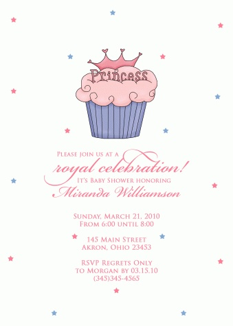 Cupcake Princess Baby Shower Invitation Birthday Parties Fun Events Invitations