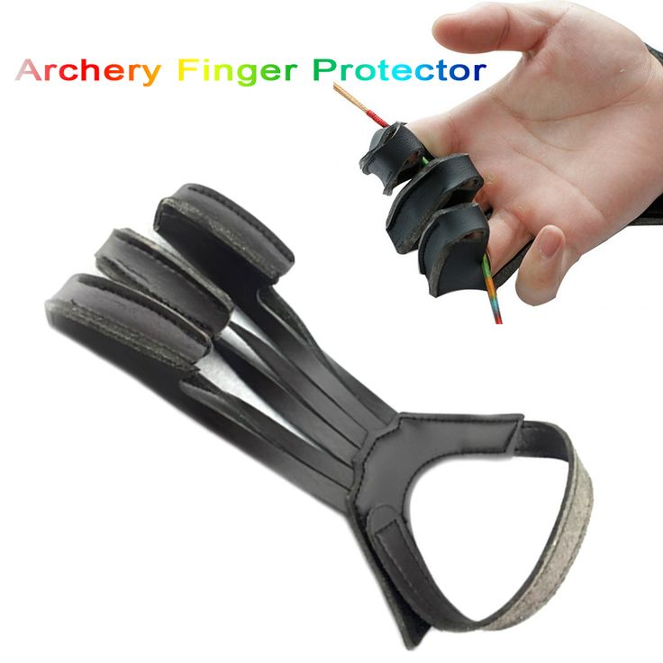 3 Finger Archery Arrow Protect Pull Bow Arrow Leather for Shooting Hunting Finger Protector Protection Glove #Affiliate
