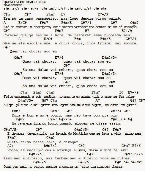 MEU CAVAQUINHO: Cifra - Quem Vai Chorar Sou Eu - Diogo Nogueira (P...