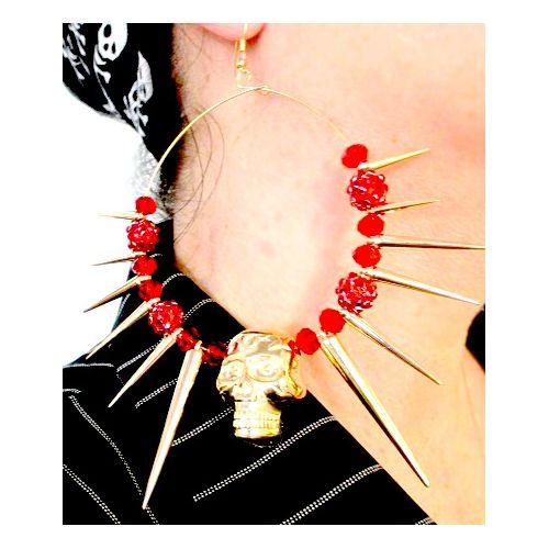 Korvis SkullSpikes Red Valtavat pääkallo-korvakorut! Punaista ja kullan hohtoa. Kallo 2,5 cm x 3,5cm. Renkaan halk. 8cm. - See more at: http://somemore.fi/tuotteet.html?id=20/200#sthash.eB0phKqM.dpuf