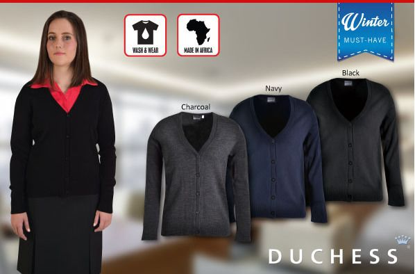 Nina Cardigan by Duchess, supplied by Best Branding. Keep the chill off this winter with a soft-feel Nina Cardigan by Duchess! These cardigans are the perfect winter accessory to keep the chill off, or to wear under a jacket. Each style has a v-neck design and is available from size XS to 5XL.