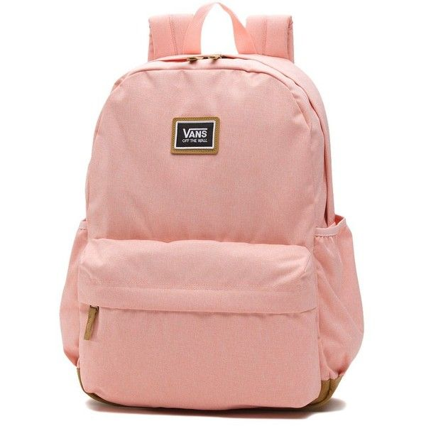 Vans Realm Plus Backpack (£38) ❤ liked on Polyvore featuring bags, backpacks, pink, vans bags, rucksack bags, backpack bags, pink bag and vans backpacks
