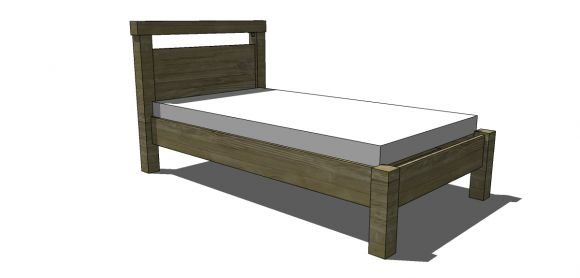 DIY twin bed for $25-$50-may need to make legs taller to fit trundle