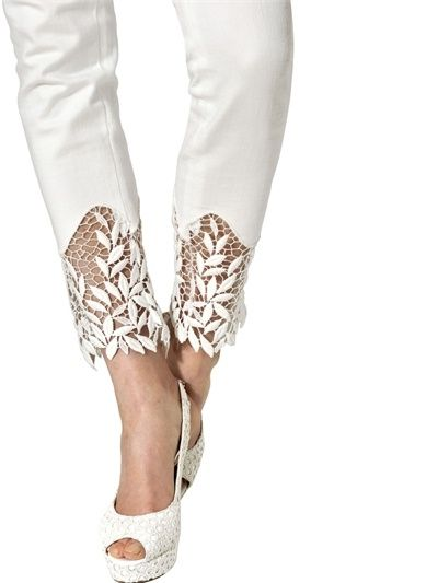 Always need to lengthen pants, like this idea.