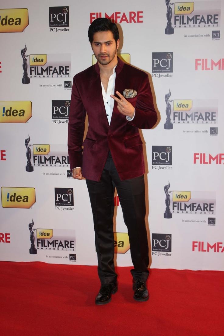 Varun Dhawan at Idea 58th Filmfare Awards.