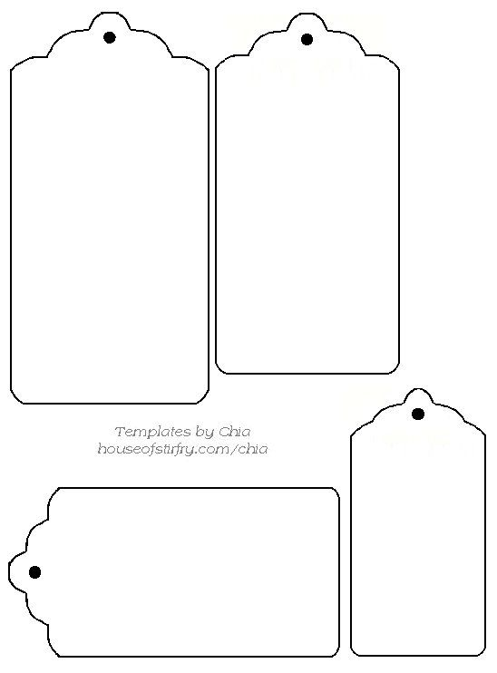 Delicate image pertaining to free printable tags templates