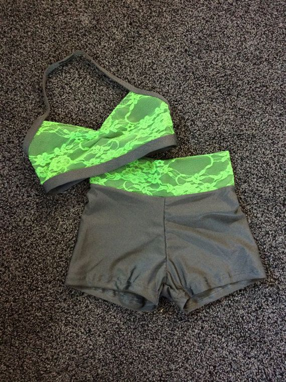 Lime lace outfit by NEthingDance on Etsy