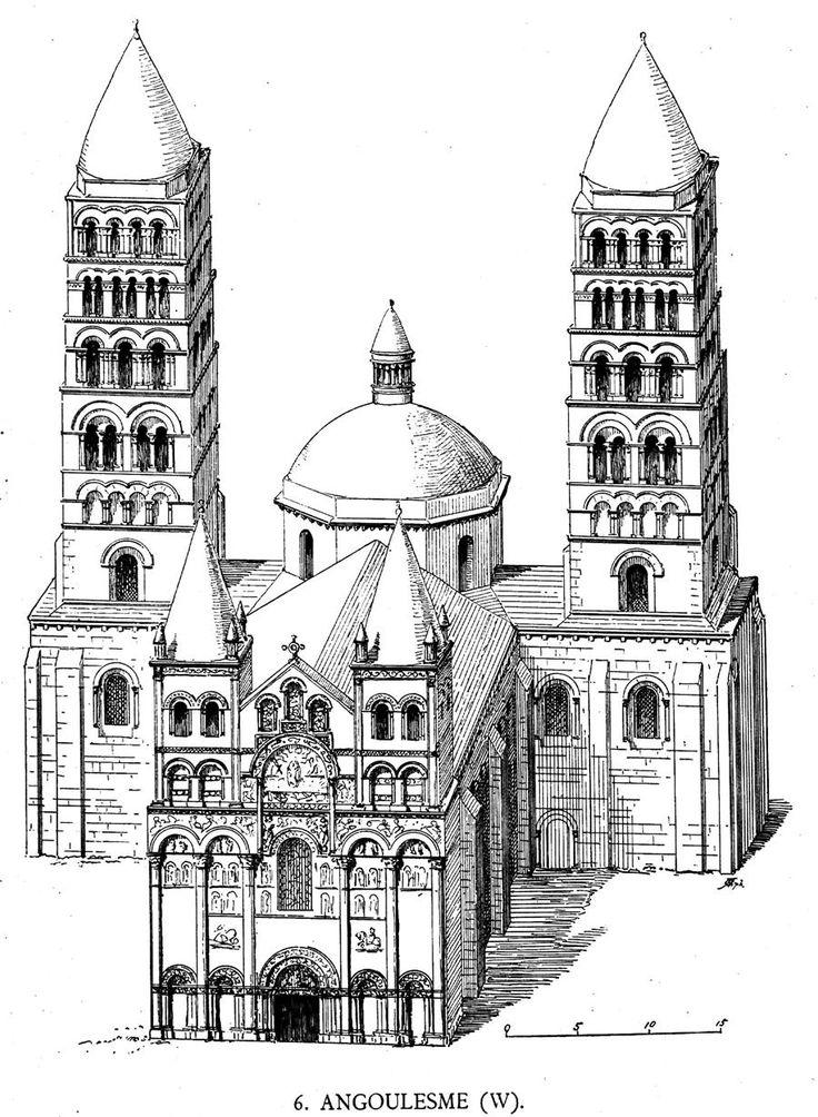Романский стиль в архитектуре картинки черно белые