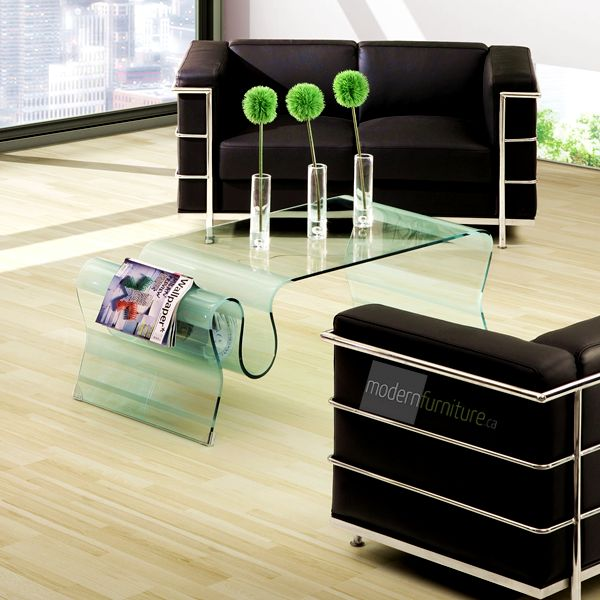 An elegant flowing form with function, the Discovery Coffee Table is made from a single piece of semi-tempered glass.