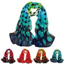 Moda Chiffon impresso Designer de cachecol outono xadrez gradiente flor leopardo lenços de seda Pashmina envoltório(China (Mainland))