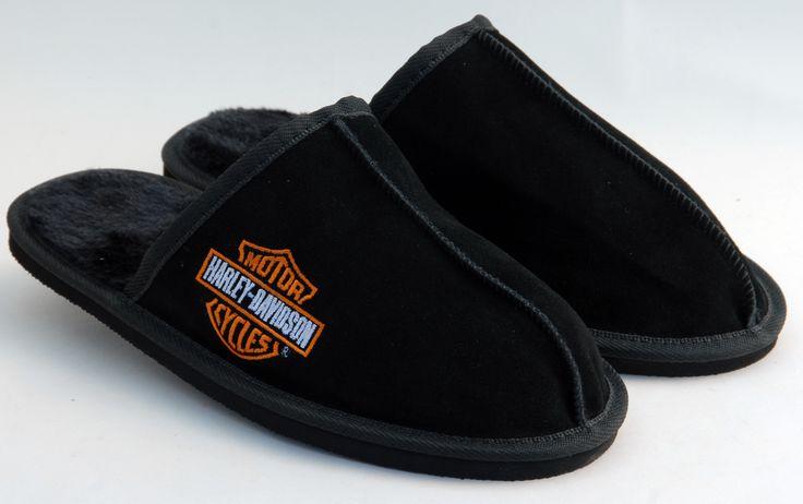 Neet Feet custom Men's Kozi Slipper design for Harley Davidson #shoes #slippers #HarleyDavidson