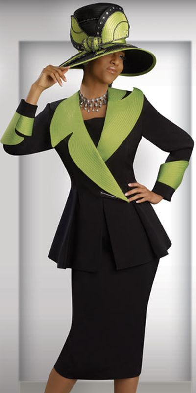 Now this outfit has SASS!  Donna Vinci Couture 5380 Womens Church Suit at frenchnovelty.com